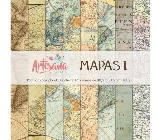 Papeles Para Scrapbook Mapas 1