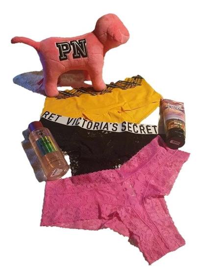 Victorias Secret Pink Pack 3 Cacheteros Cheeki Sexy S M L