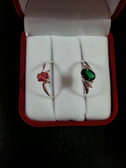 Anéis De Prata Com Pedras De Zirconias Com Garantia