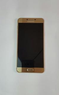 Celular Samsung Galaxy C7 32gb Dourado (mancha Azul Na Tela)