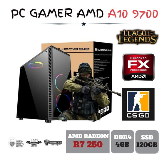 Pc Gamer Amd A10 9700 4gb Ddr4 R7 250 Apu Ssd120gb