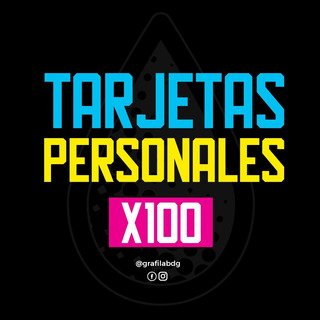 Tarjetas Personales X100