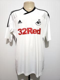 Camisa Futebol Swansea País De Gales 2011 Home adidas Tam Gg