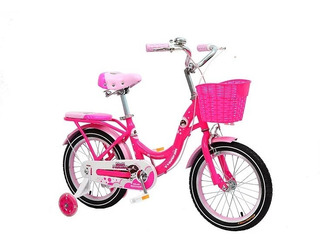 Bicicleta Niña Phoenix Rod 16 Moon C/rueditas Y Canasto