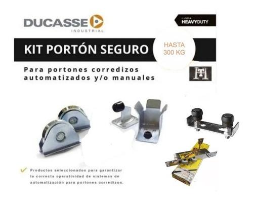Kit Portón Seguro Ducasse 300 Kg Corredizo Con Trabex 700