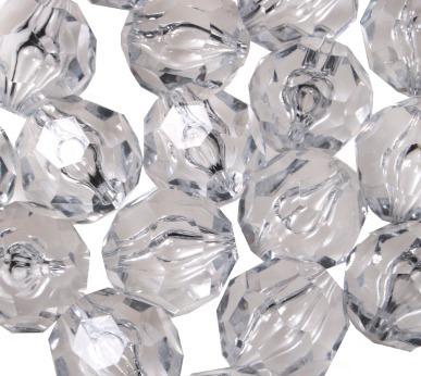3 Pacotes De Conta Sextavada Cristal Acrílico Para Vasos