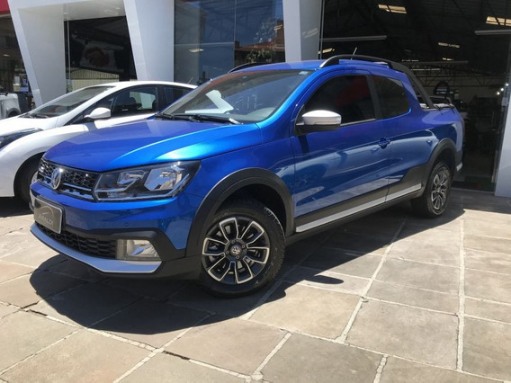 Volkswagen Saveiro Cross 1.6 Cd 2017 Azul Flex