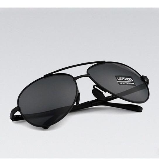Óculos De Sol Polarizado Masculino Proteção Uv400 Aviador