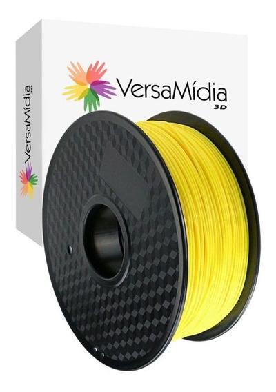 Filamento Pla Versamídia 3d Premium 1.75mm Black Spool
