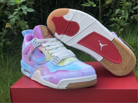 Tenis Nike Jordan 4 Retro Seven Originales Morados Hombre