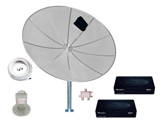 Antena Parabólica 1,90 Completa Receptor Century Midiabox B3