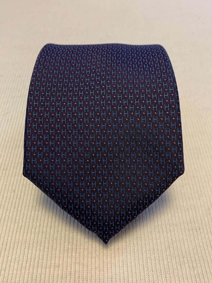 Gravata Hermes Paris Azul Marinho E Roxa Hs