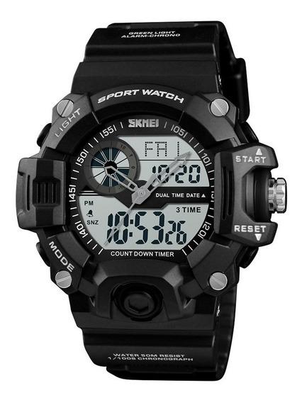 Skmei Reloj Digital Análogo Militar Contra Agua 1331 Grande