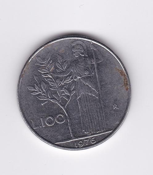 Ltc161. Moneda De 100 Liras Italiana De 1976.