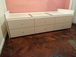 Cama Divan Box 0,80 Con Cajones Color Blanco Box Somier !!
