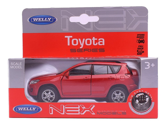 Auto De Coleccion Toyota Rav 4 Escala 1:36 Welly Pull Back