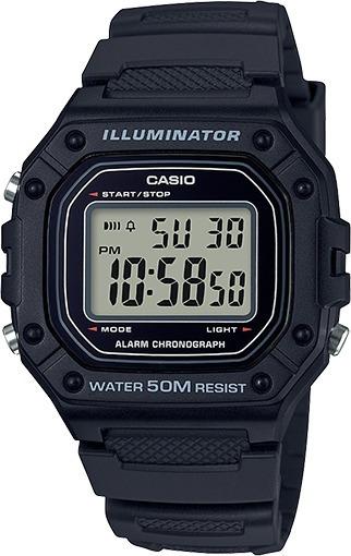 Relógio Casio W218 Preto 50 Metros Prova Dágua 100% Original