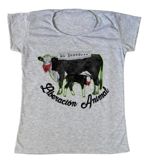 Remera Veggie/ Vegan Liberación Animal