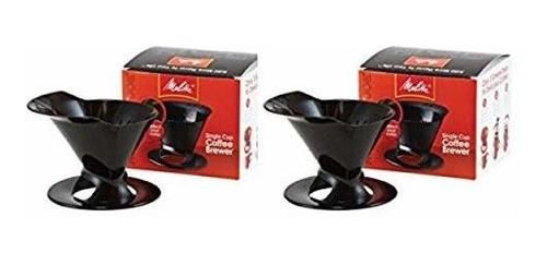 Taza De Cafe Para La Preparacion De Una Taza Color Negro 2 N