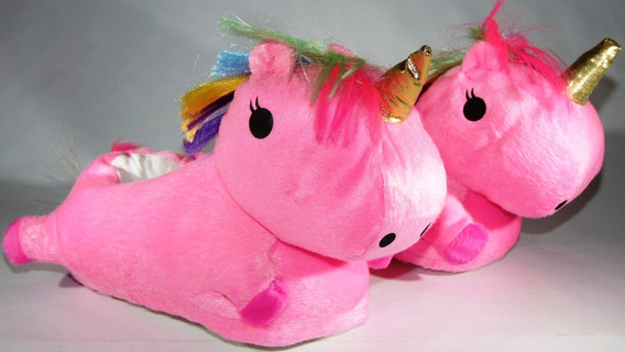 Pantuflas Unicornio Con Leds Mira El Video 24/40 Hermosos
