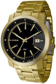 Relógio Lince Masculino Dourado Mrg4401s-p2kx