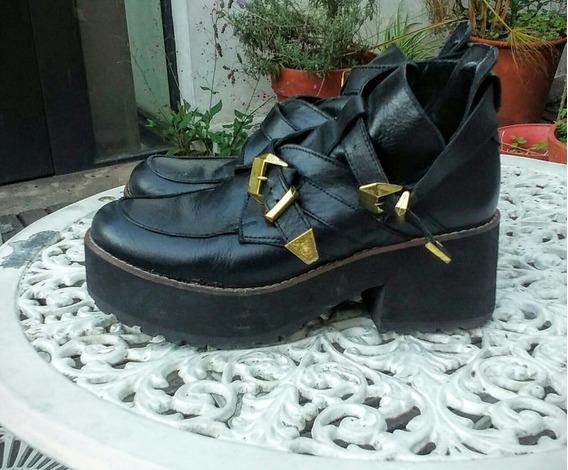 Zapatos De Cuero Nro 40, Con Suela Super Cómoda
