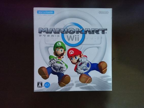 Mário Kart Wii Com Volante Original Japonês