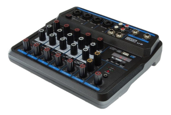 Mesa Som 6 Canal Boxx U6 C/interface - Melhor Que Mxt - Loja