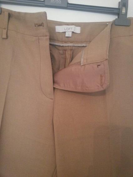Pantalon De Ann Taylor Importado T 46/48 Nuevo Marron