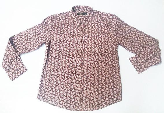 Camisa Social Floral 2k Jeans Masculina Casual Festa