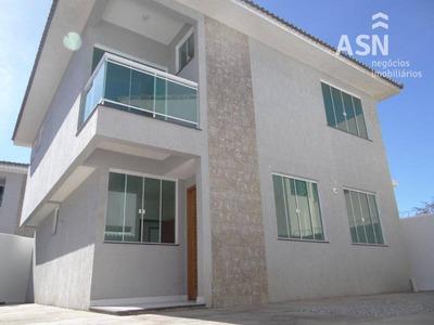 Linda Casa Duplex De Alto Padrão Com 4 Qts, Jardim Bela Vista - Rio Das Ostras/rj - Ca0249