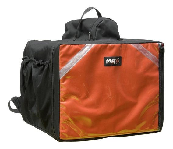 1 Mochila Entrega Bag Bolsa Com Caixa Isopor + 1 Sem Caixa