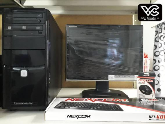 Computadora Dual Core 3.0ghz 160gb Dd Cpu 2gb Ram Completa