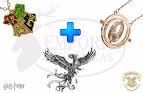 Kit Harry Potter Vira-tempo + Phoenix + Hogwarts 4 Casas