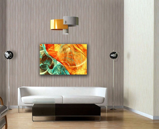 Cuadro Canvas Fondo Dinámico & Futurista Brillante 65x100cm