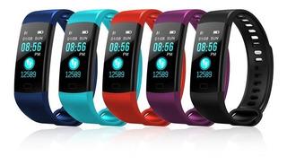 2 Unidades Relógio Inteligente Pulseira Smartband Y5 Monitor