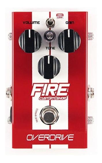 Pedal Fire Overdrive Guitarra True Bypass