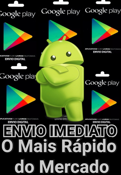 Giftcard R$50reais Google Play Store Envio Digital C/rapidez