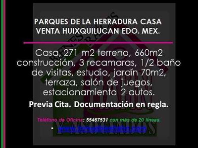 Parques De La Herradura Casa Venta Huixquilucan Edo. Mex.