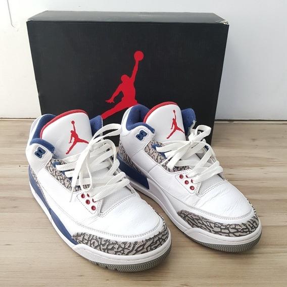 Air Jordan 3 Retro Trueblue Tam 39 Usado 8/10 Caixa Não Orig