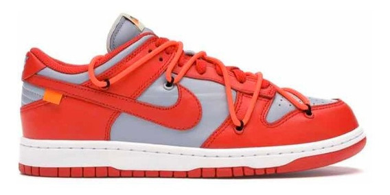 Sneakers Original Nike Dunk Low Off White University Red
