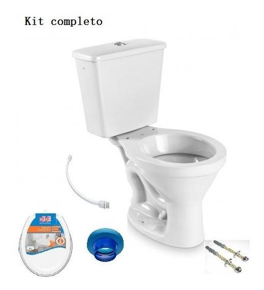 Kit Bacia + Cx Acoplada + Assento E Acessórios Instalação