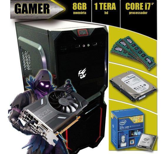 Pc Gamer I7-4790 + 8gb + 1tb + Asus H81 + Gtx1050ti