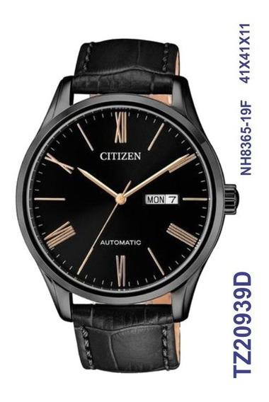 Relógio Citizen Masculino Automatico Tz20939d Preto Couro