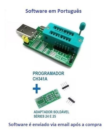Gravador Usb Flash Eprom Ch341 Bios 24xx 25xx Receptor