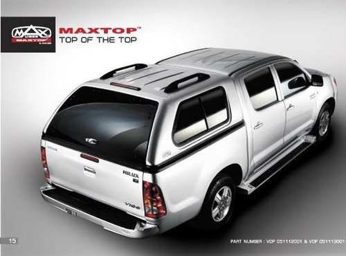 Imagen 1 de 7 de Cúpula Toyota Hilux Vigo Gris Plata Doble Cabina Maxliner