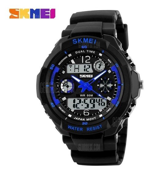 Relógio Skmei 0931, Digita/analógico, À Prova Dagua, Cores