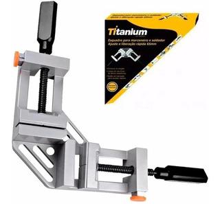 Esquadro De Alumínio Para Soldagem/marcenaria 65mm Titanium