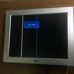 Monitor Lcd L L15ns 15 Tela Pc C Listras Sem Pedestal