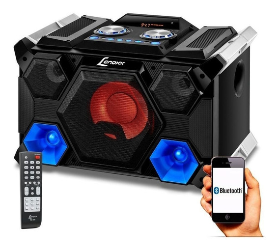 Caixa Som Portátil Mini System 280w Bluetooth Lenoxx Ms8500